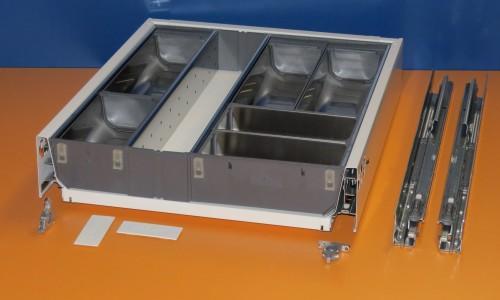 Blum Tandembox Antaro Schublade für 45er Schrankbreite, mit Essbesteckeinsatz von Blum, Orgaline ZSI.45VEI6