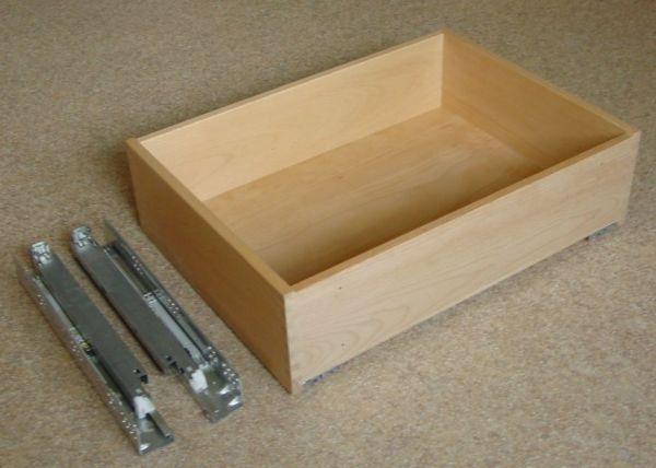 buche eiche oder ahorn holzschublade mit teilauszugsschienen. Black Bedroom Furniture Sets. Home Design Ideas